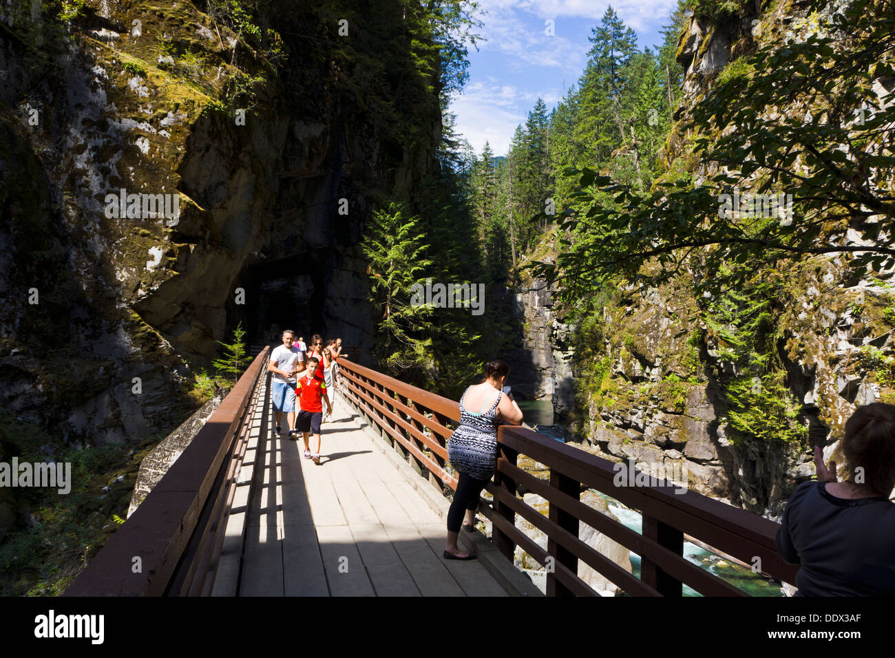 Coquihalla Canyon Provincial Park, Esperanza, British Columbia, Canadá. Foto de stock