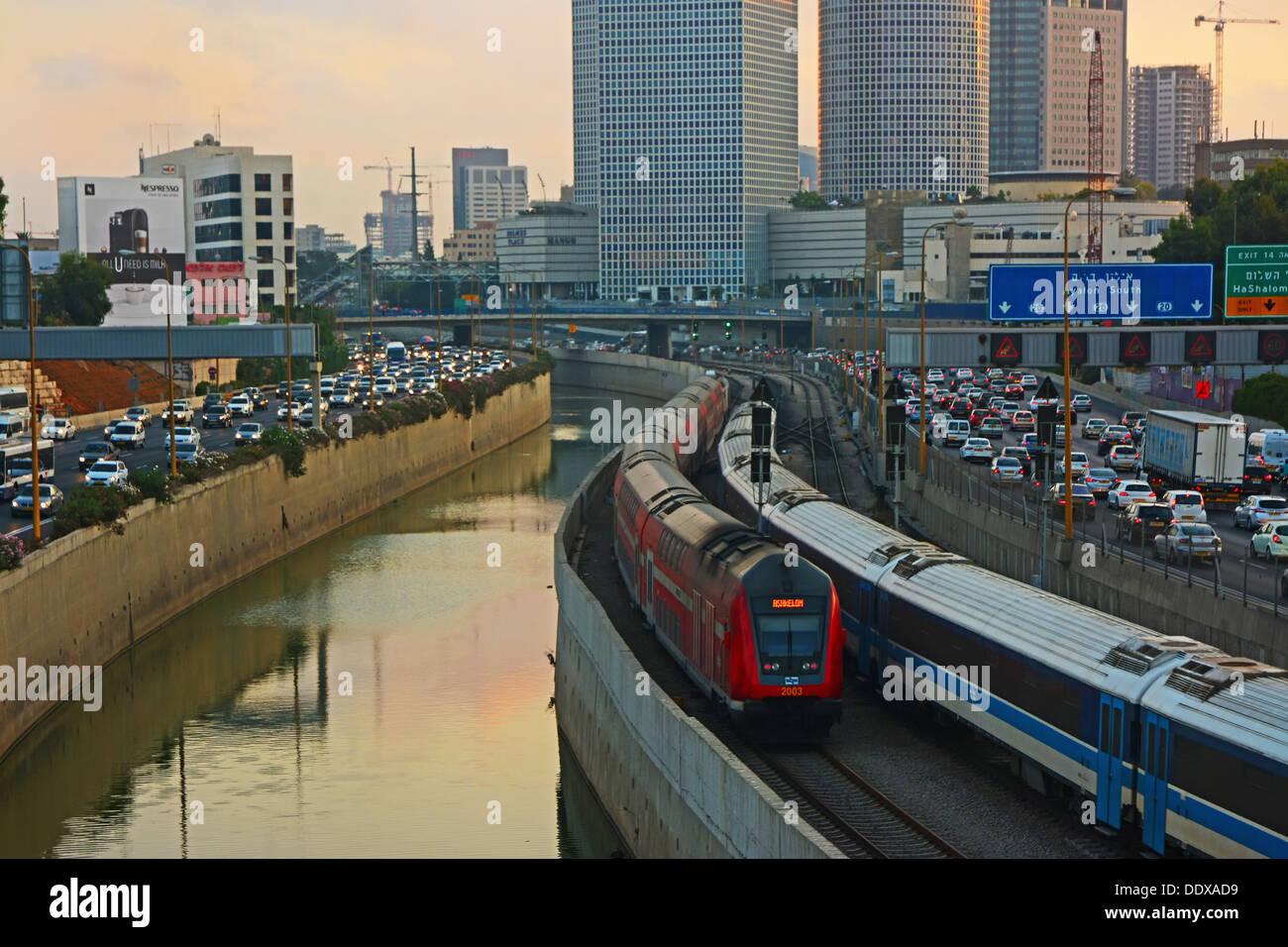 Ayalon Hway, Tel Aviv, Israel Imagen De Stock