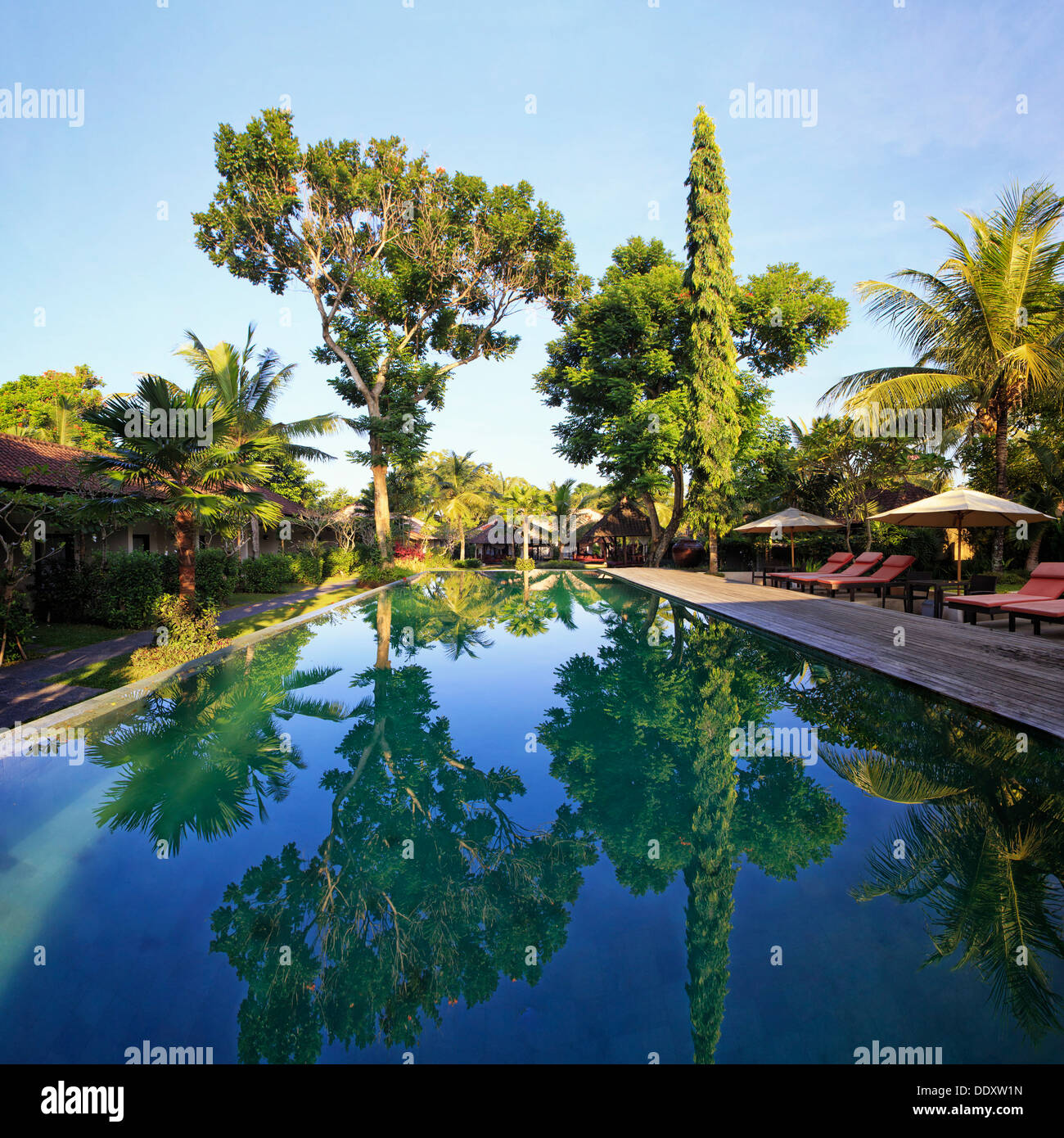 Indonesia, Bali, Ubud, Boutique Resort Imagen De Stock