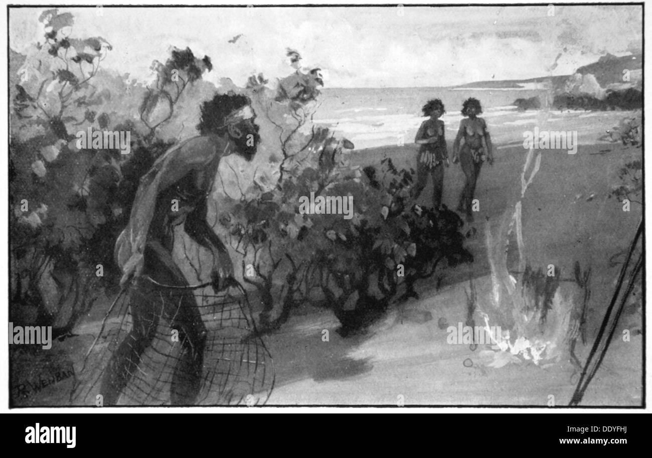 """""""Rolla-Mano decididos a capturarlos"""", 1923. Artista: Raymond Wenban Imagen De Stock"""