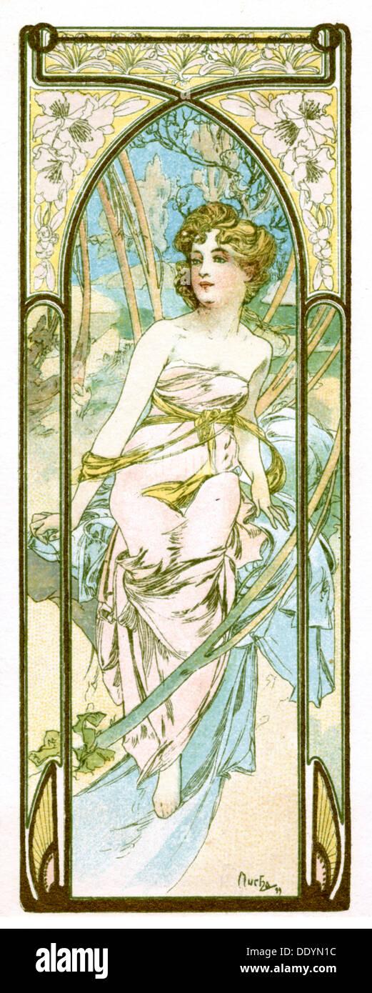 """Brillo de día"", de 1899. Artista: Alphonse Mucha Foto de stock"