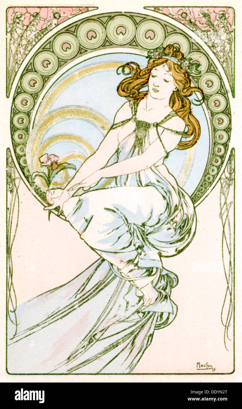 """Pintura"", 1900. Artista: Alphonse Mucha Foto de stock"