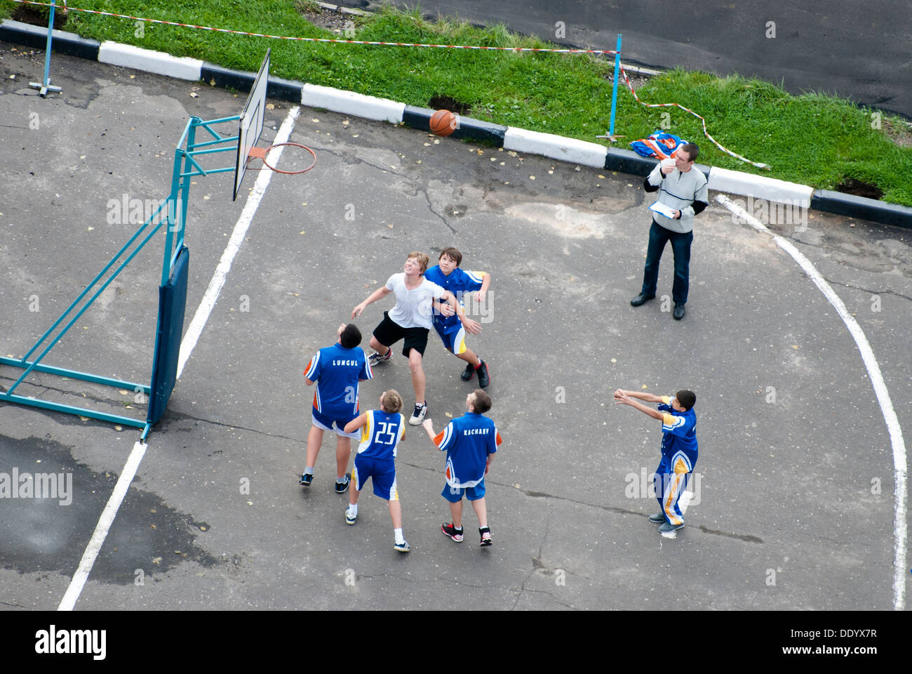 Kid's basketball Imagen De Stock