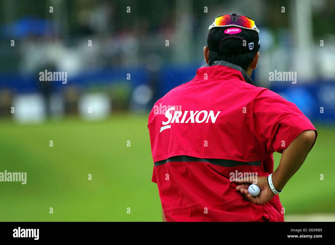 Greensboro, Carolina del Norte, EE.UU. 17 Aug, 2013. Hideki Matsuyama (JPN) Golf : Tercera ronda del Wyndham Championship Foto de stock