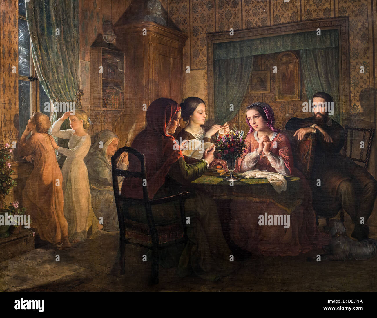 El siglo XIX - el poema del alma, Paterna techo, alrededor de 1850 - Louis Janmot óleo sobre lienzo Imagen De Stock