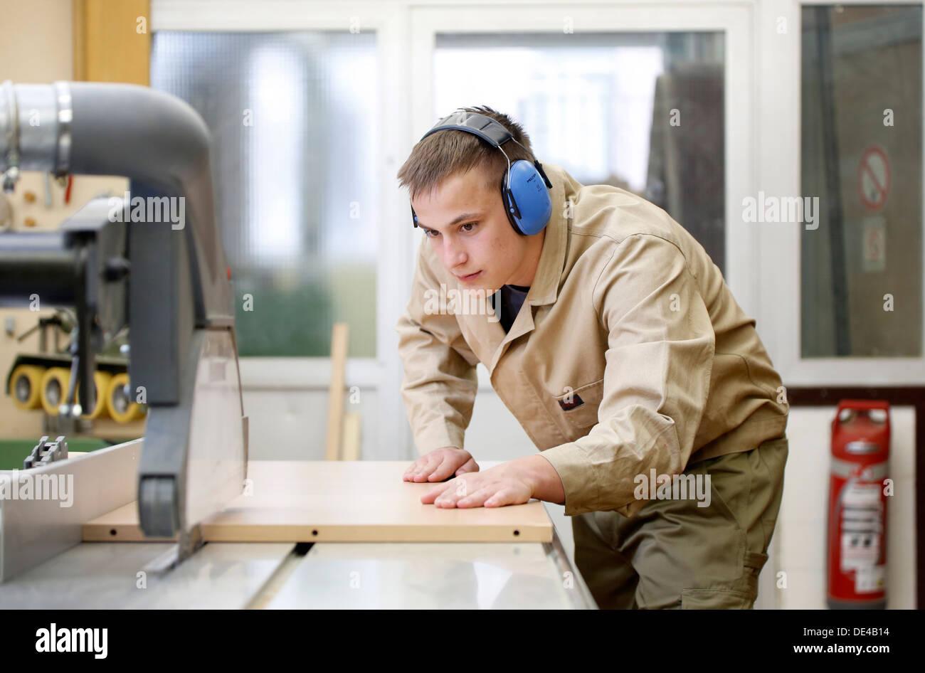 Moers, Alemania, aprendiz de carpintero Imagen De Stock
