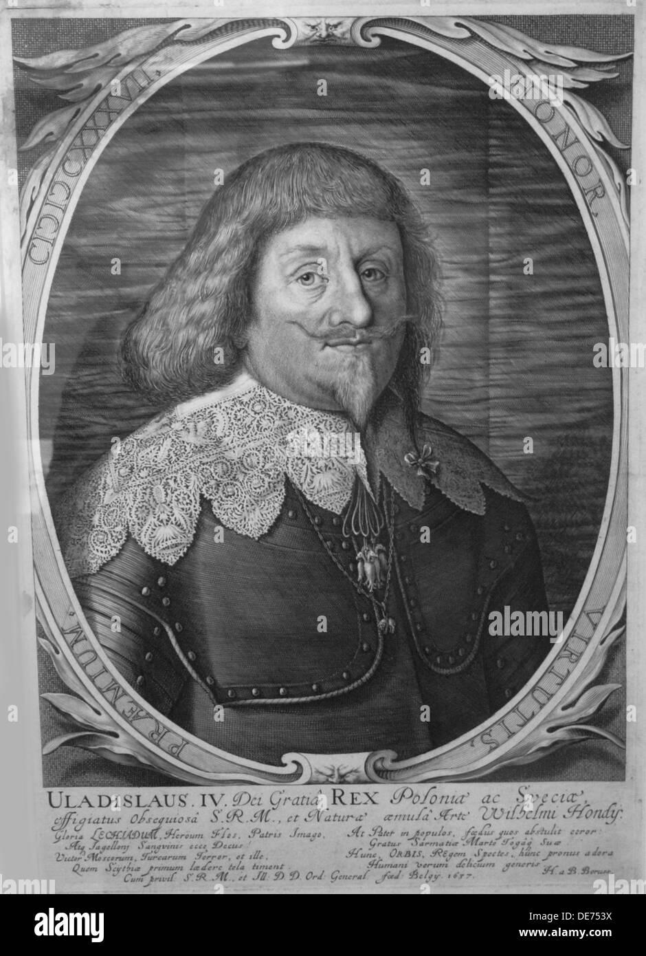 El rey Ladislao IV Vasa de Polonia (1595-1648), el Zar de Rusia, 1637. Artista:, Willem Hondius (1597-1652/58) Imagen De Stock