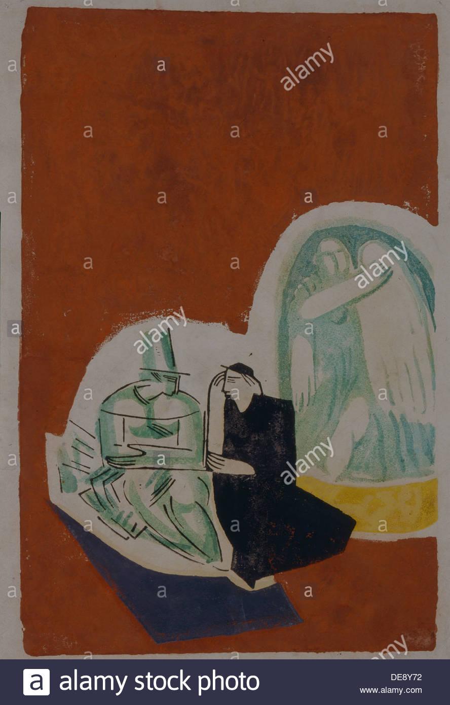 Idilio, 1920. Artista: Bubnova, Varvara (1886-1983) Imagen De Stock