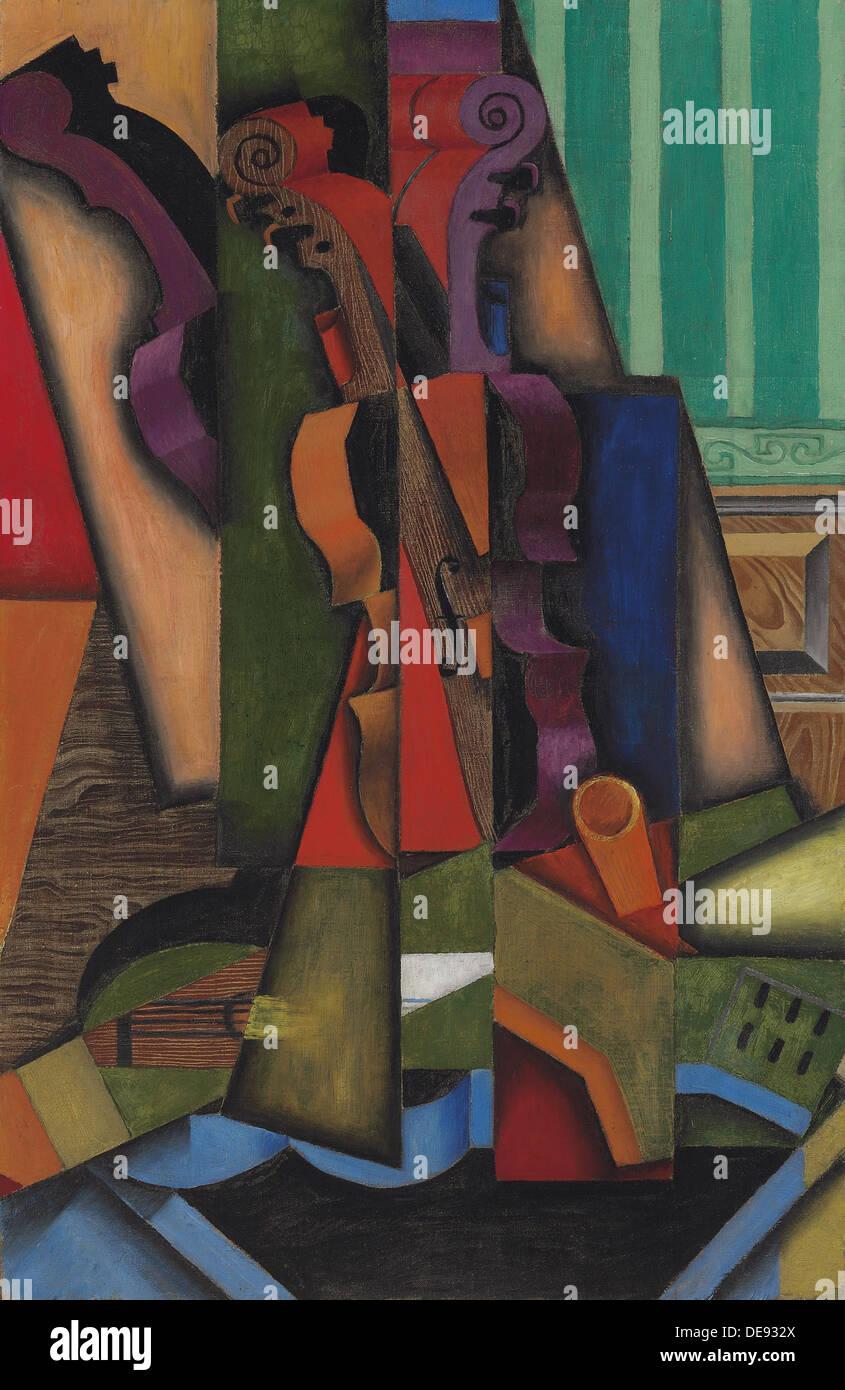 Guitarra y violín, 1913. Artista: Gris, Juan (1887-1927) Imagen De Stock