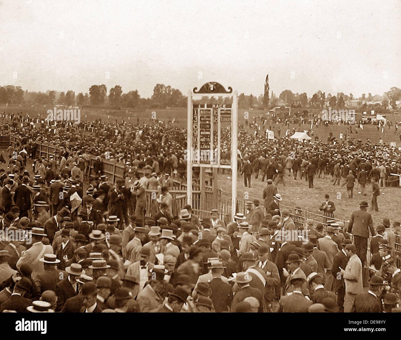 Worcester Hipódromo temprano 1900s Imagen De Stock