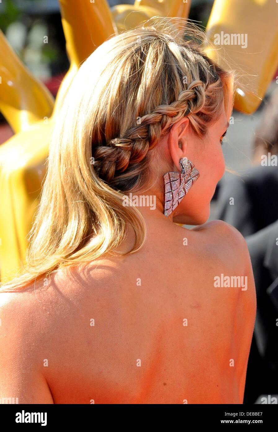 Los Angeles, CA. 15 Sep, 2013. Heidi Klum en la terminal de llegadas de Primetime Emmy Awards: Premios a las artes creativas - Llegadas, Nokia Theatre, Los Angeles, CA 15 de septiembre de 2013. © Elizabeth Goodenough/Everett Collection/Alamy Live News Imagen De Stock