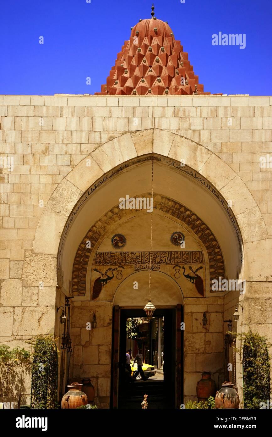 Nur al-Din Bimaristan ahora museo de la medicina y la ciencia en el mundo árabe, Damasco, Siria Imagen De Stock