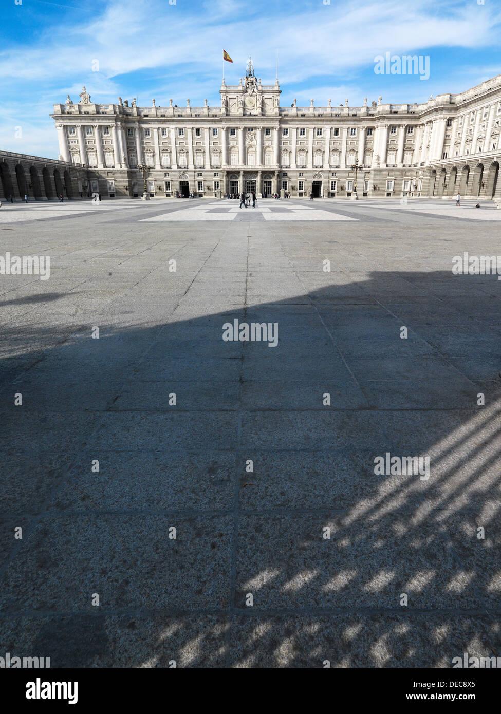 Madrid, España, con vistas al Palacio del Rey liquen Imagen De Stock