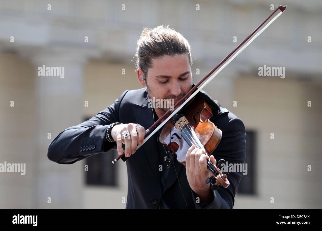 Berlín, Alemania, el violinista David Garrett Imagen De Stock