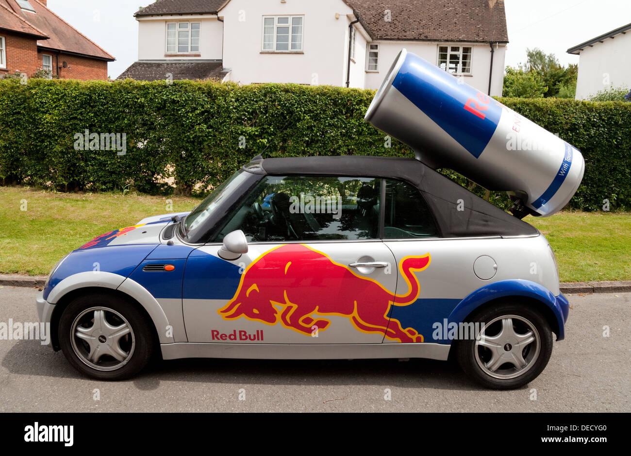 Red Bull mini coche, REINO UNIDO Imagen De Stock