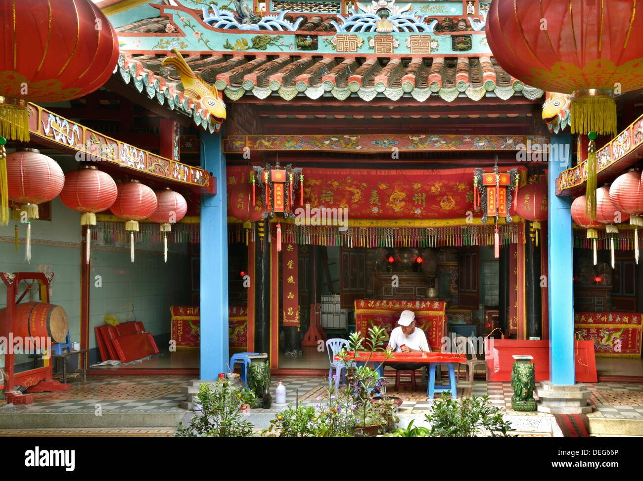 Chino clan house, Phan Thiet, Vietnam, Indochina, en el sudeste de Asia, Asia Foto de stock