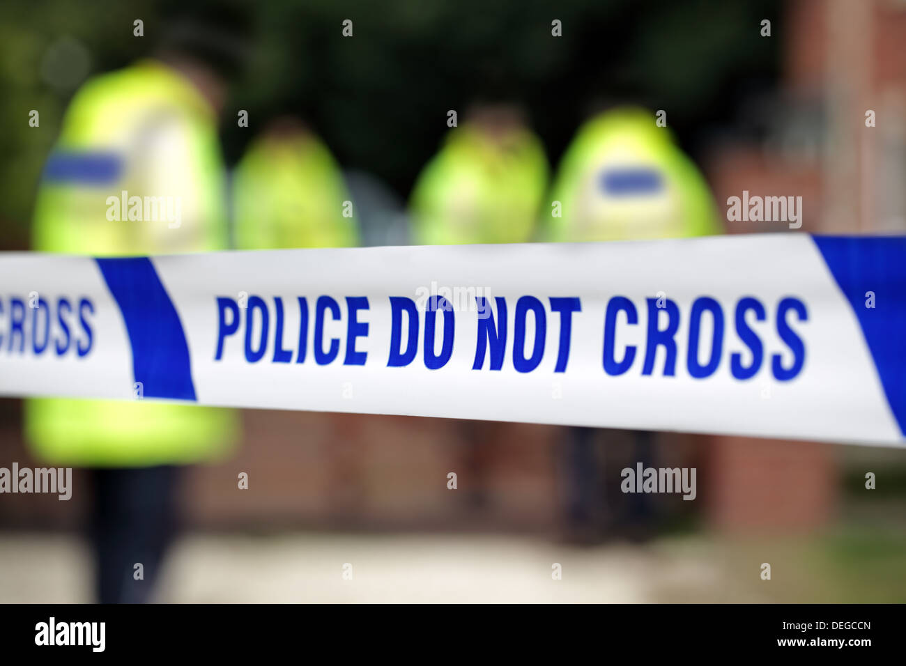 La policía de la escena del crimen Foto de stock