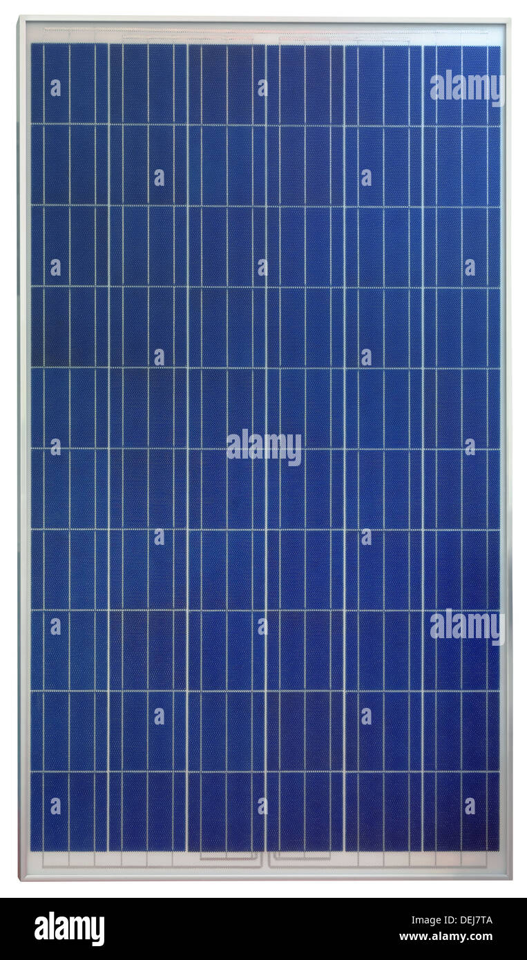 Panel solar fotovoltaico aislado sobre fondo blanco. Imagen De Stock