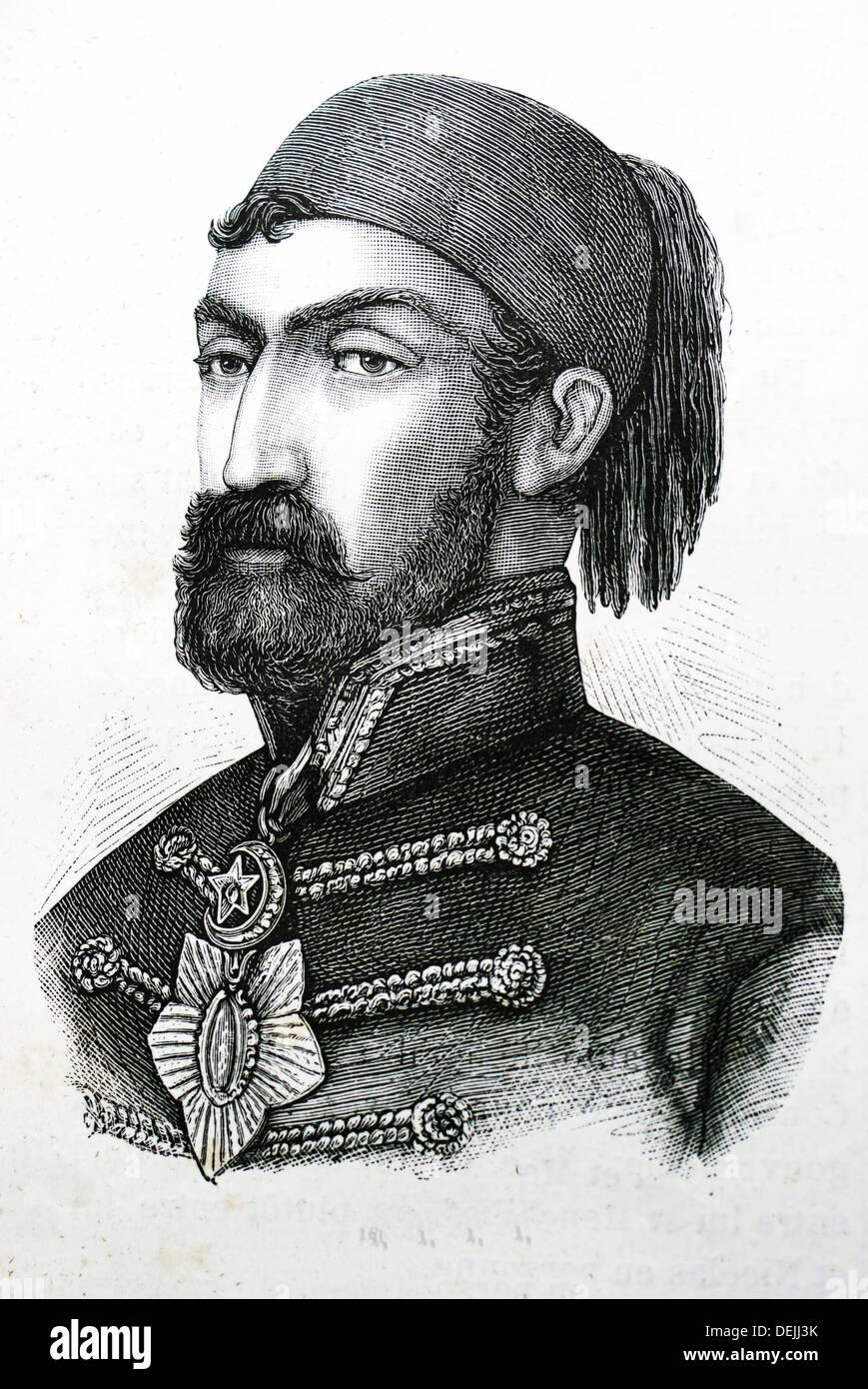 Historia-XIXc - Omer pacha- Omar Pasha Latas griego: μ, 1806-1871 fue un general otomano fue un soldado serbio croata1234 Foto de stock