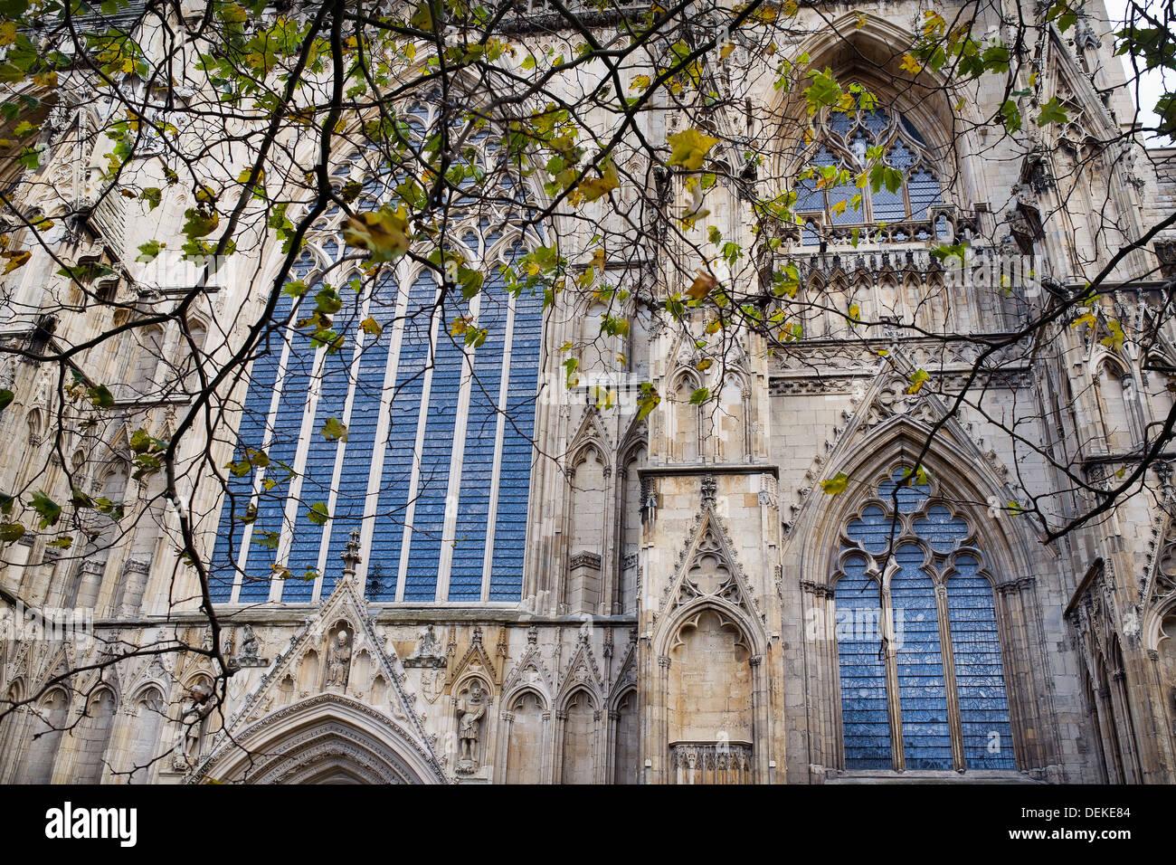 Catedral de York, Norte de Inglaterra, Reino Unido, Europa, de estilo gótico, la Catedral de York, en el norte de Foto de stock