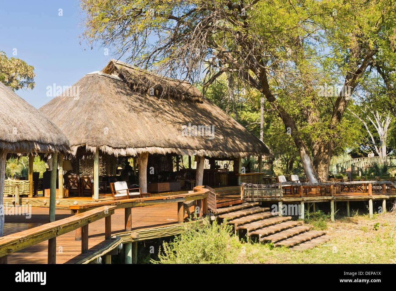 Mombo camp en Botswana, África Foto de stock