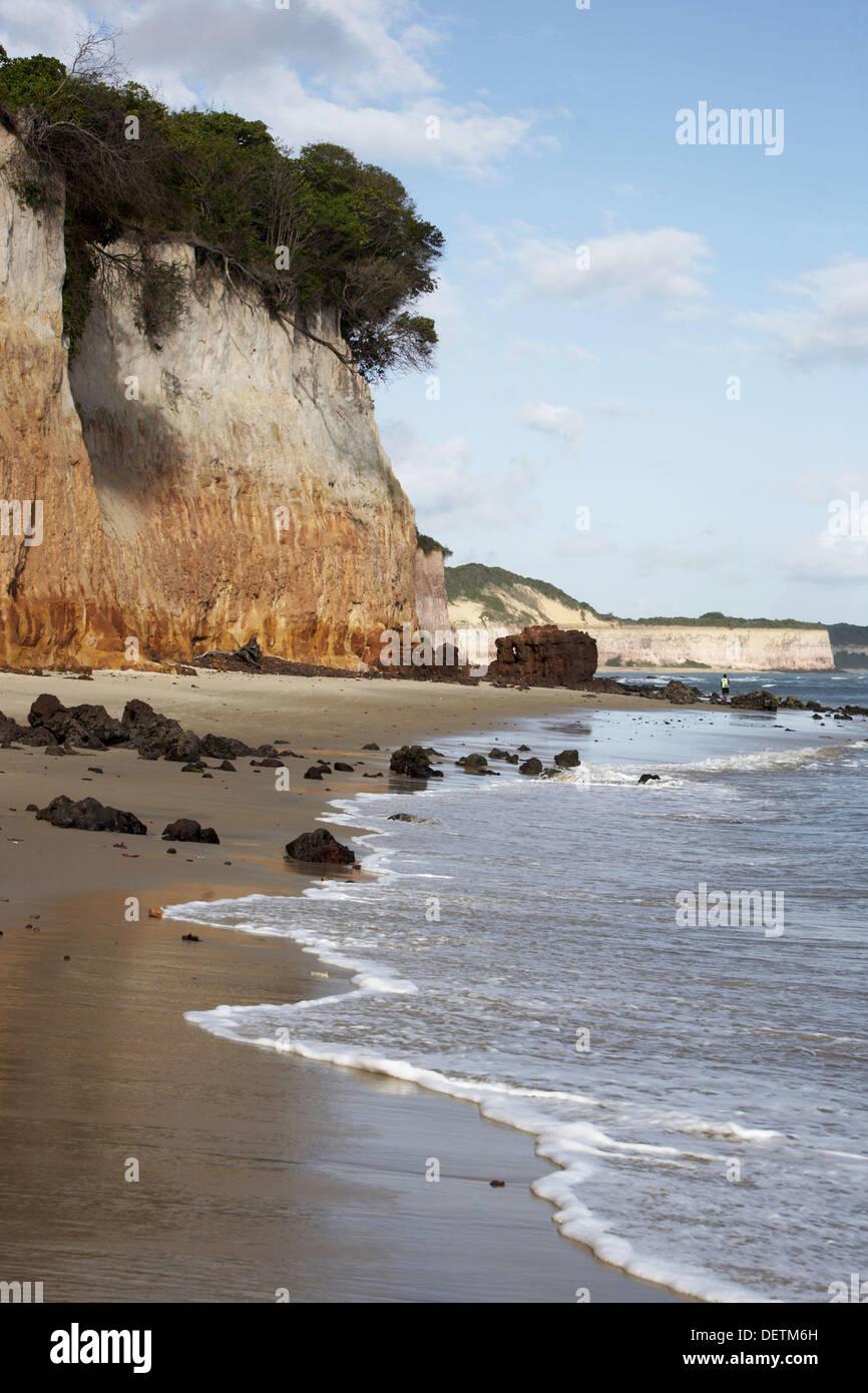 Acantilados, Praia do Amor. Tibau do Sul, Rio Grande do Norte, Brasil Imagen De Stock