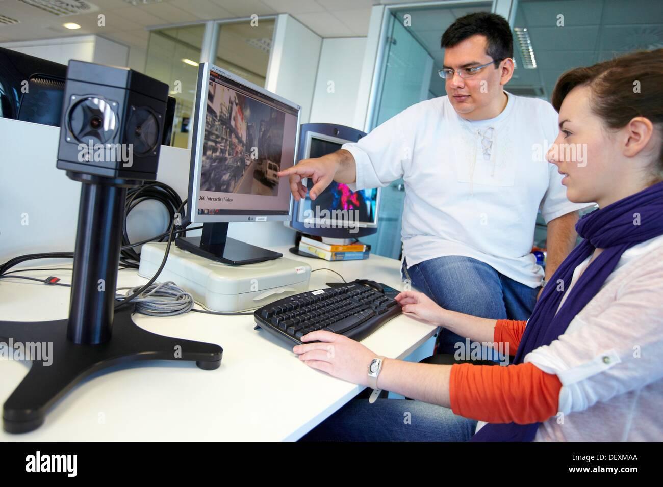 Video demo omnidireccional, sistemas inteligentes de transporte e ingeniería, VICOMTECH-IK4 Interacción Visual y Imagen De Stock