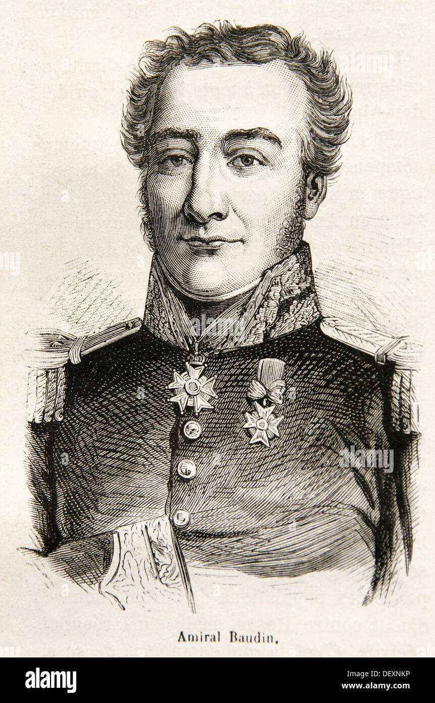 Charles Baudin (1792 en Sedán, Francia - 7 de junio de 1854 en Ischia, Italia), almirante francés, que se extendió desde el servicio naval Imagen De Stock