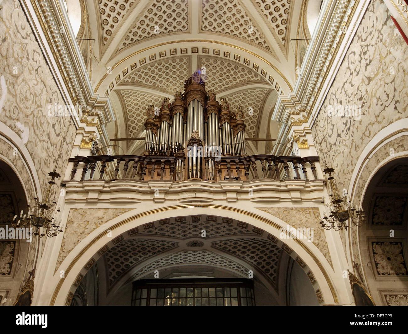 Órgano, Santa María de la Natividad, Atlixco, México Imagen De Stock