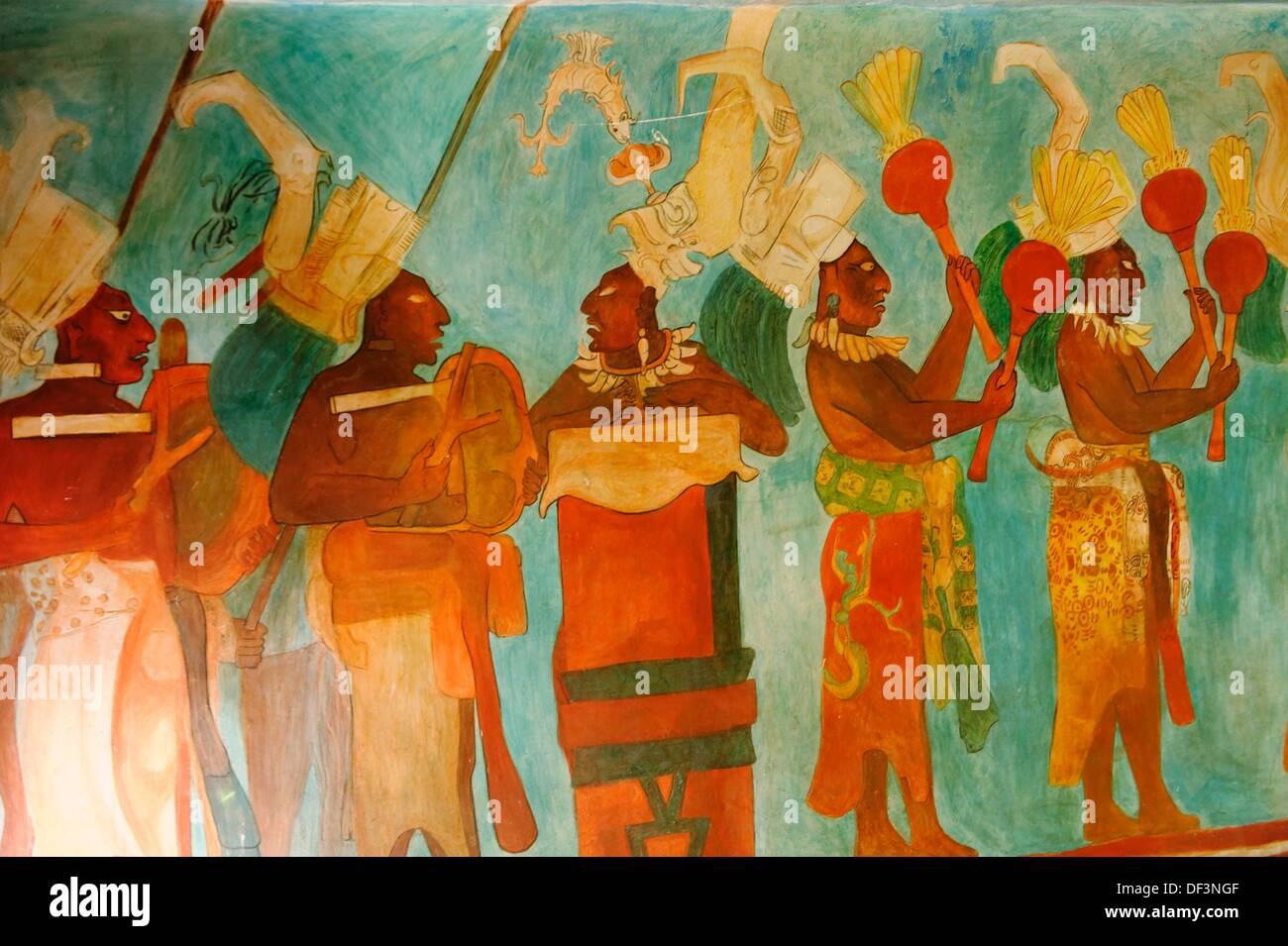 Los Antiguos Murales Mayas
