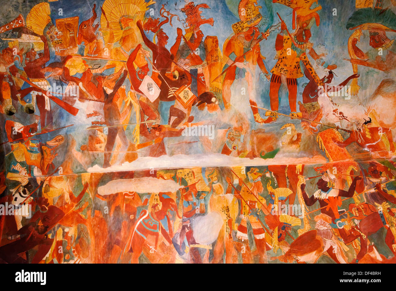 Las Reproducciones De Los Murales De Bonampak Un Antiguo Sitio