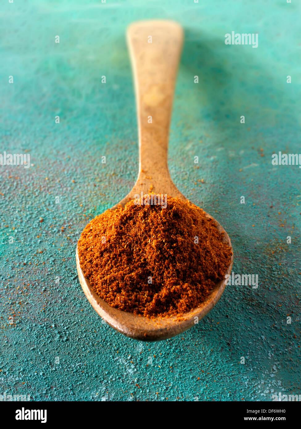 Tierra de chili en polvo especias Foto de stock