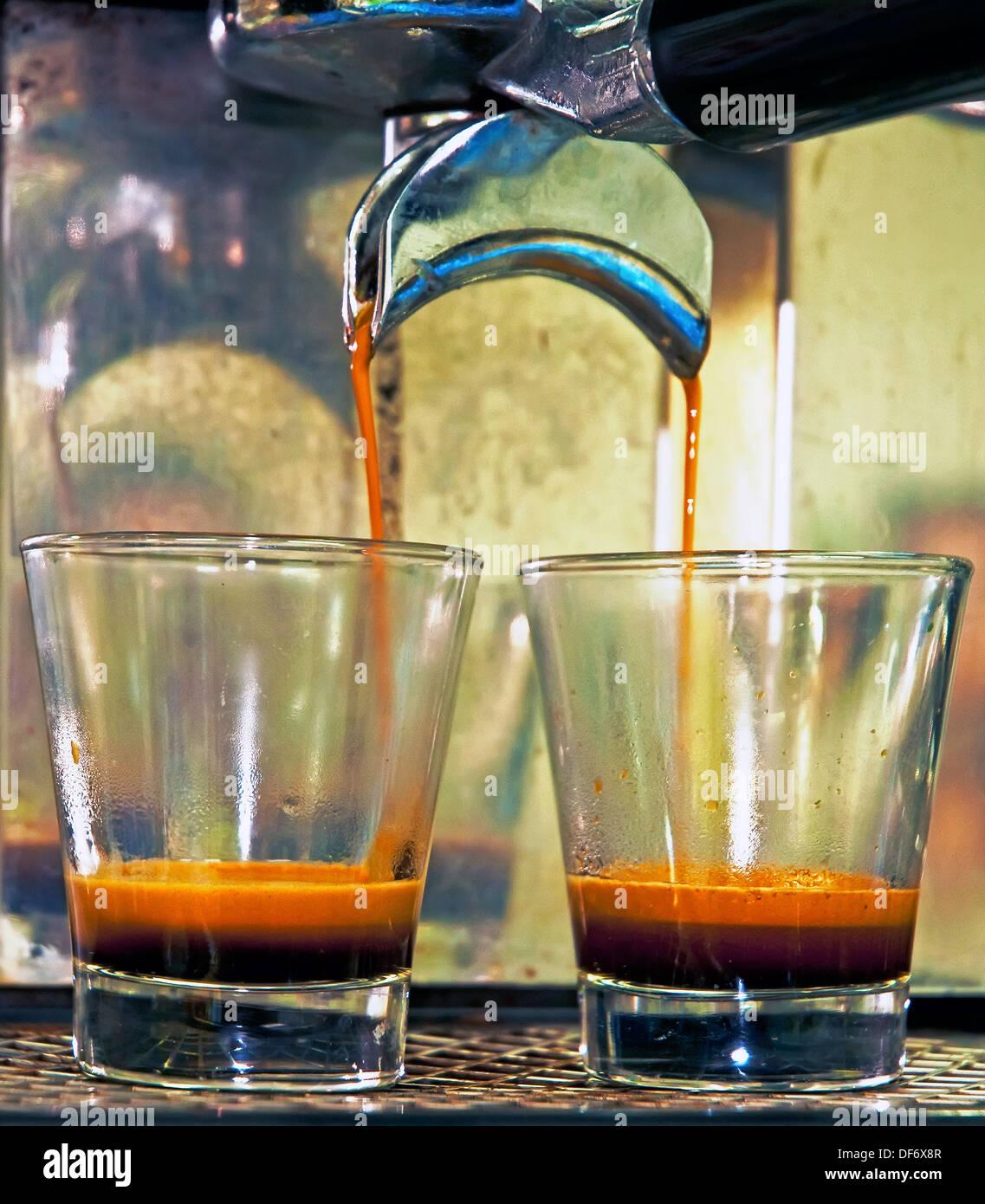 Cafetera Espresso, la cultura italiana Imagen De Stock