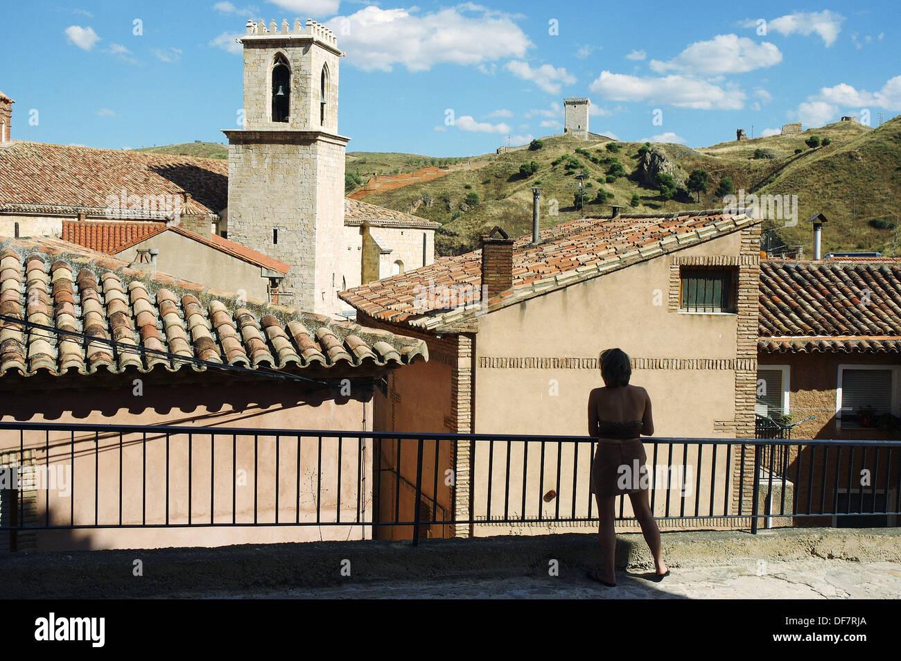 La Iglesia de la Colegial. Daroca. La provincia de Zaragoza, Aragón. España Imagen De Stock