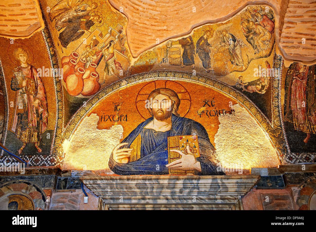 La iglesia bizantina del siglo xi del Santísimo Salvador en Chora , museo Kariye, Estambul, Turquía Imagen De Stock