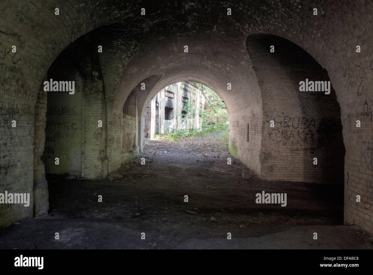 Fort Sarbinowo, Zorndorf, Kostrzyn, Polonia Imagen De Stock