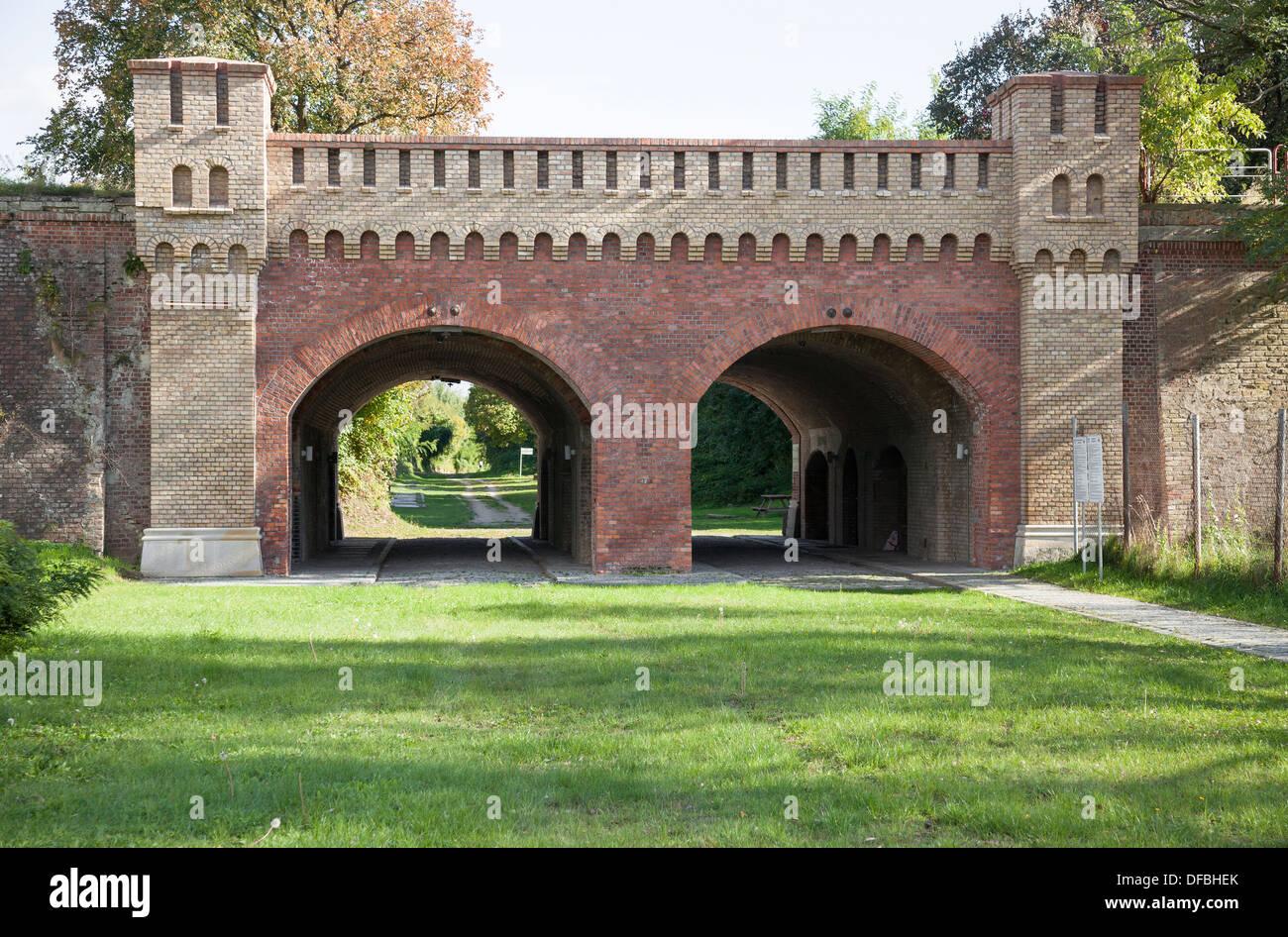 Ciudad vieja fortaleza, Berlín, Puerta de Kostrzyn Imagen De Stock