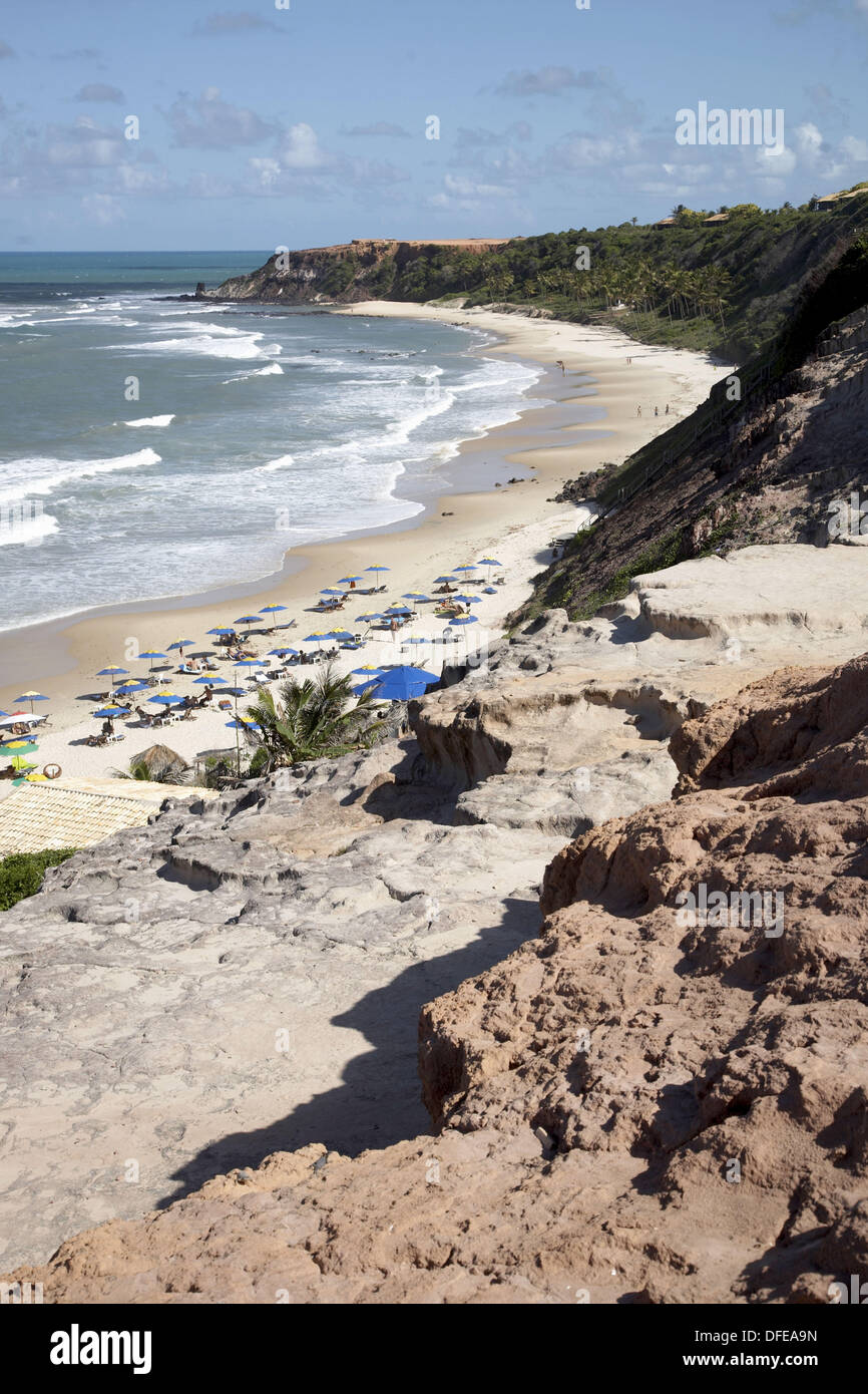 Acantilados, Praia do Amor. Tibau do Sul, Rio Grande do Norte, Brasil Foto de stock