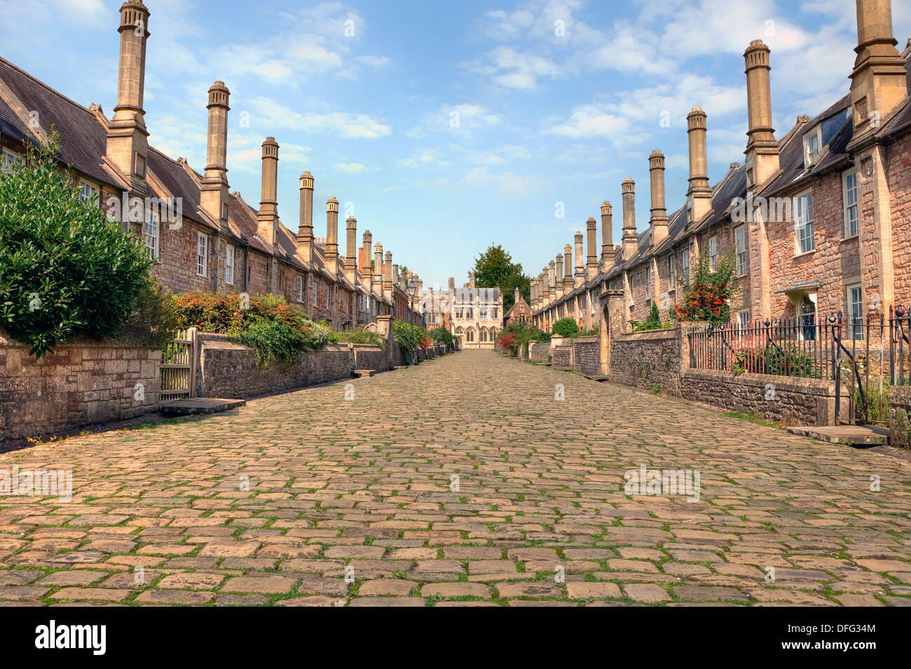 "Wells, vicarios"" cerca, Somerset, Inglaterra, Reino Unido Imagen De Stock"