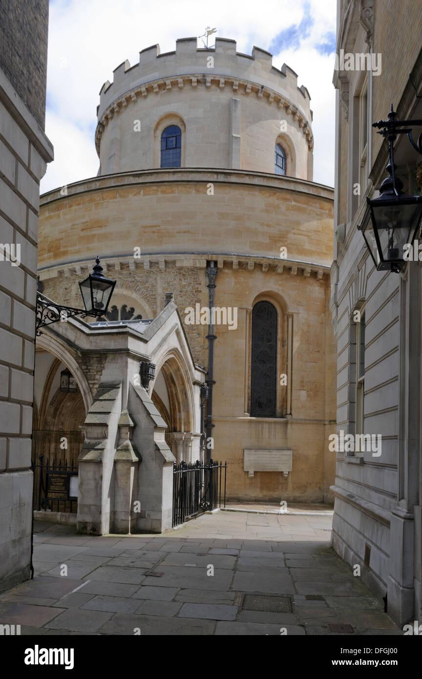 La torre de la iglesia del Temple, Londres, Inglaterra, Reino Unido. Imagen De Stock