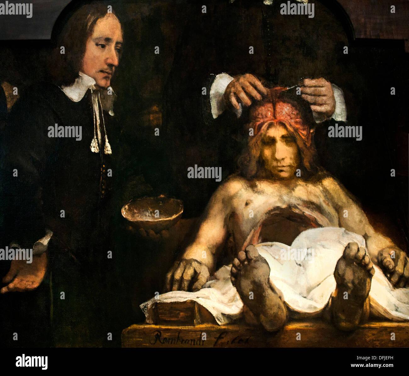 La Lección de Anatomía del Dr. Jan Deijman ( fragmento ) 1656 ...