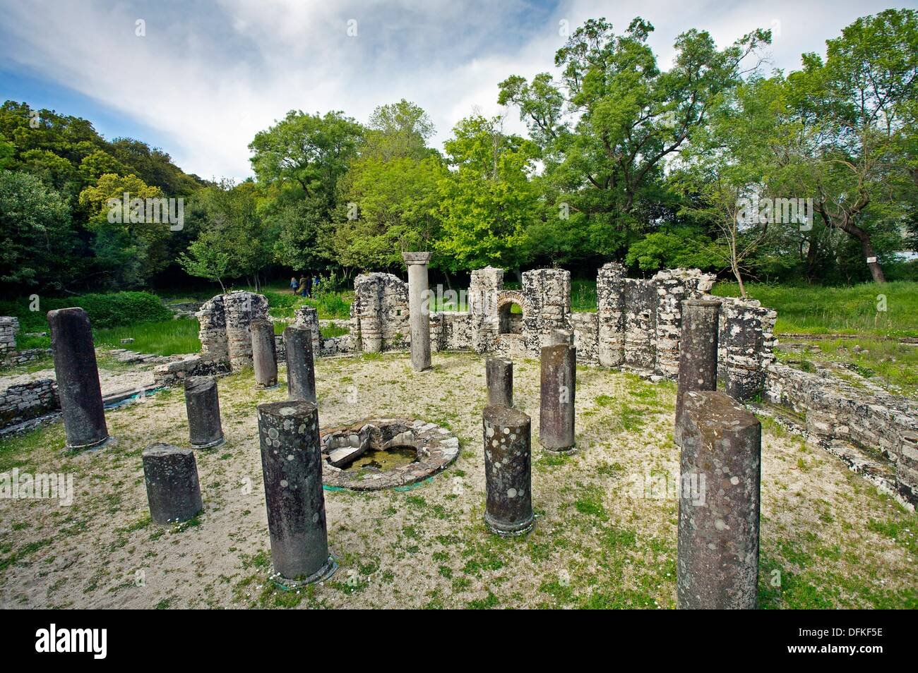 El Baptisterio. 6º siglo DC. La UNESCO. Patrimonio de la Humanidad. Butrint. Albania. Foto de stock