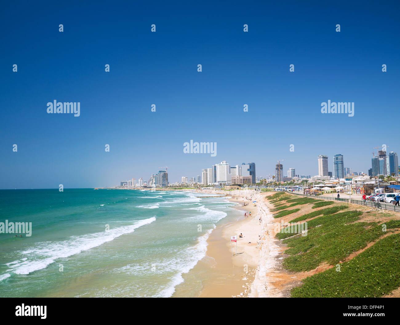 Playa de Tel Aviv en Israel Imagen De Stock