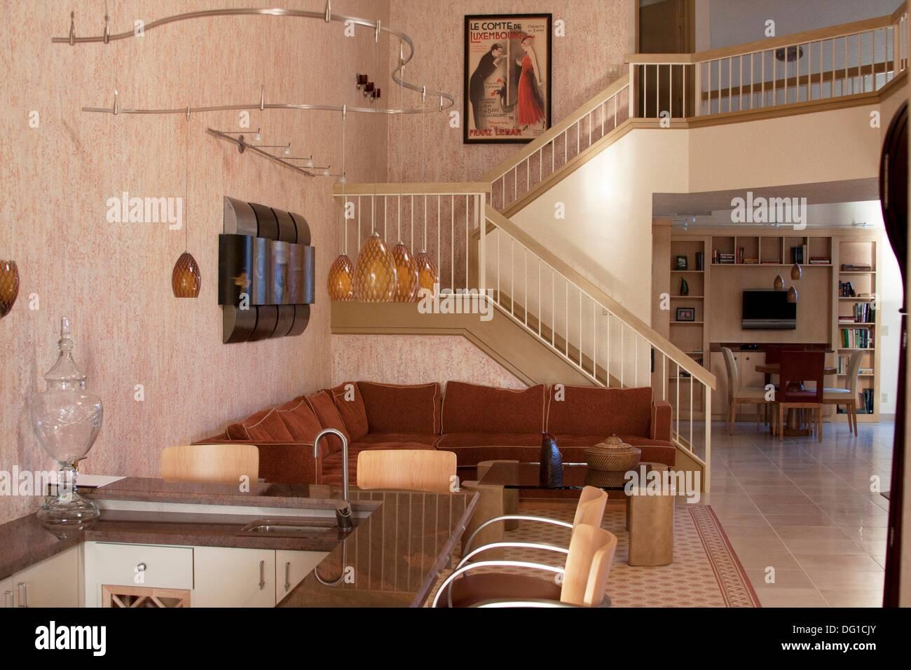 Primer Piso Del Espacio Interior De Una Casa Moderna Con Una