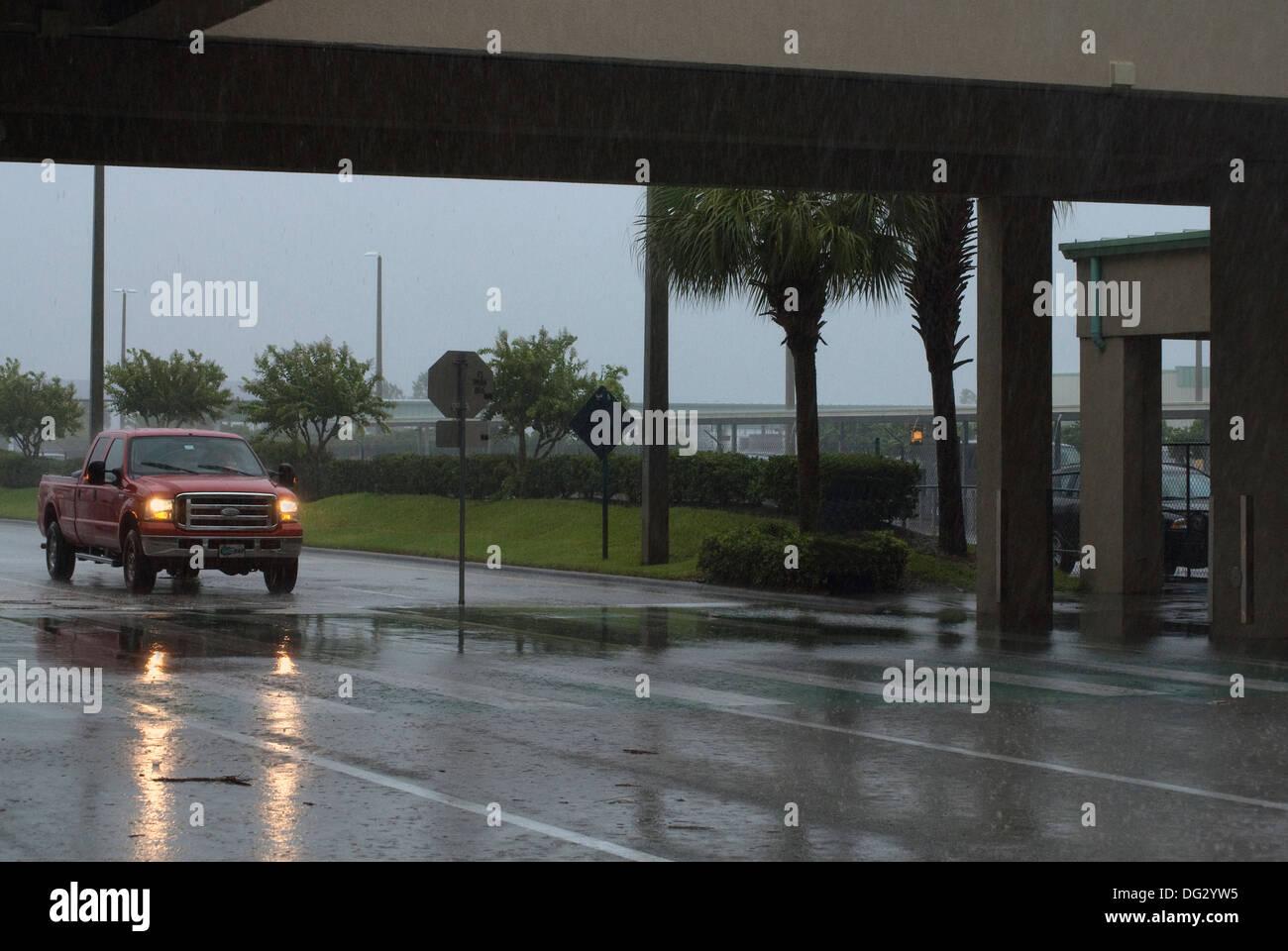 Las lluvias torrenciales en Orlando. Imagen De Stock