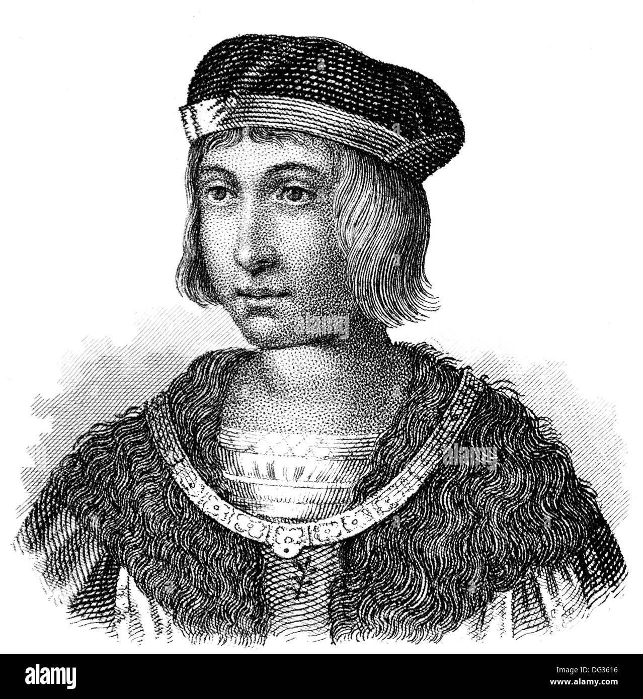 Luis IX o San Luis, rey de Francia, 1214-1270, Foto de stock