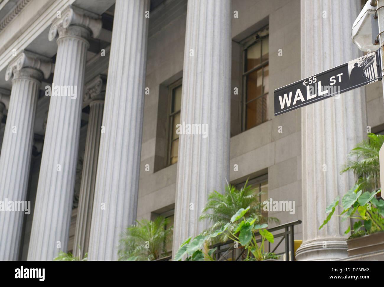 55 wall Street Imagen De Stock