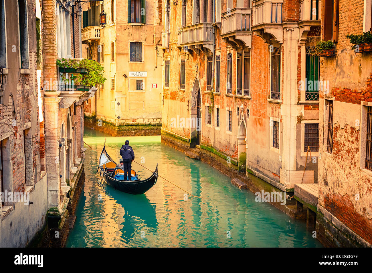 Canal en Venecia Imagen De Stock