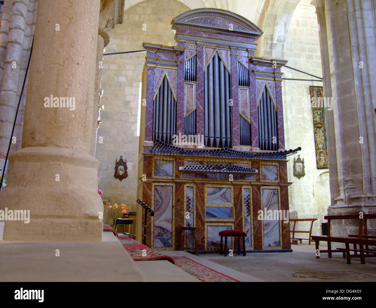 Órgano en la iglesia de San Juan en Castrojeriz (Burgos) Imagen De Stock