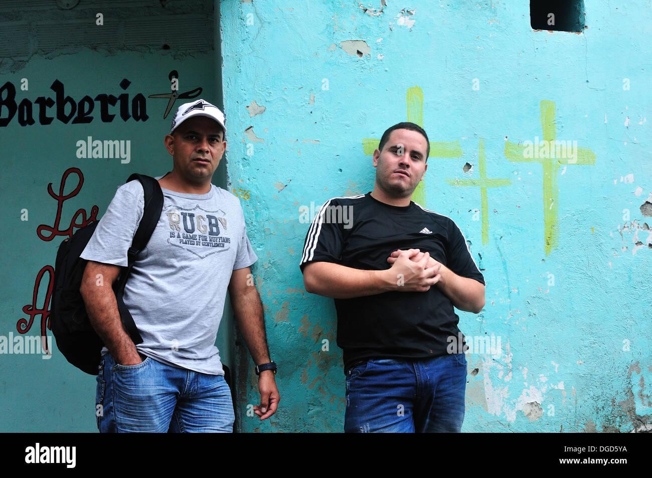 La comuna 13 - 20 de julio distrito .en Medellín, Departamento de Antioquia. COLOMBIA Imagen De Stock